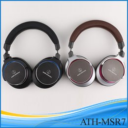Wholesale High quality Iron triangle ATH MSR7 wired headphone mm headphones with mic over ear headphone for iphone android cellphone