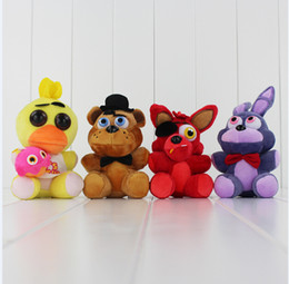 Game Five Nights at Freddy's Plush FNAF Bonnie Foxy Freddy Plush Toy Stuffed Soft Dolls 13-18cm Free Shipping EMS