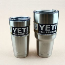 Wholesale 30oz oz oz Yeti Rambler Tumbler Stainless Steel Vacuum Insulated Cup Double Walled Travel Mug Car Beer Coffee Cup