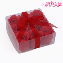 Wholesale Wedding Party Gift High Quality Mix Colors Rose Soap Flower For Romantic Bath Soap Valentine s Gift Candle Favors WJ5377