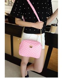 Women Bag Fashion Women Messenger Bags Rivet Chain Shoulder Bag High Quality PU Leather Crossbody Quiled Crown bags