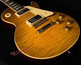 Wholesale 10S Custom Shop True Historic Reissue Tom Murphy Aged Vintage Lemon Burst Electric Guitar