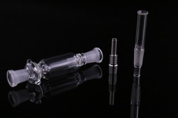 Wholesale 10mm Nectar Collectors Mini design with titanium nail oil rigs glass water pipe bong with case