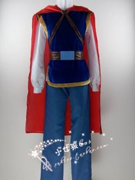 Free shipping prince handsome snow white costume men prince cosplay fantasy halloween costumes for men party for chrismas
