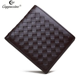Wholesale 2017 Cappuccino Brand new style short sheepskin woven leather wallet women s wallet the best gifts for wife