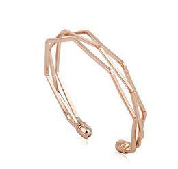 fashion popular 4 color rose gold gold silver black five layer Edges bangles jelwery bracelet open bracelet Smooth Bracelet Couple Bracelet