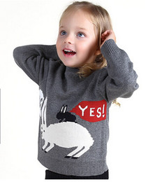 Wholesale Girl s Spring Sweater Baby Girl Boy Funny Cartoon Sweaters Kids Cloth Long Sleeve Children Tops Pullover Children Cardigan