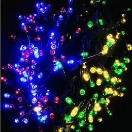 la luz solar llev las luces al aire libre de la secuencia que destellaban la decoracin