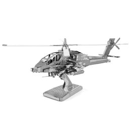 Wholesale NEW hot jigsaw puzzles Boeing AH Apache D Nano metal DIY scale Model Building architecture educational toys Christmas