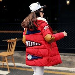 Wholesale Korean Button Down - Korean Women Autumn Winter Cotton Coats Fashion Red Army Green Warm Long Slim Hooded Casual Slim Cotton Down Jacket Parka Coat Hoodies