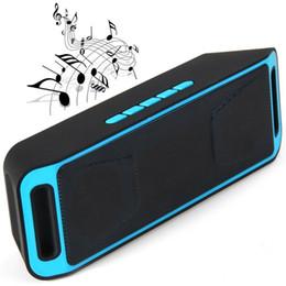 2017 boîte de haut-parleur de radio SC208 Mini Haut-parleurs stéréo Bluetooth portatif Haut-parleur mains libres sans fil mains libres avec FM Radio Support disque TF Card Retail box package