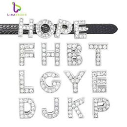 "130pcs 8mm Full Rhinestone Slide Letters "" A-Z ""DIY Slide Letters Charm fit Bracelet  wristband LSSL01*130"