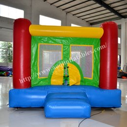 Wholesale AOQI funny park equipment mini inflatable moonwalk indoor or outdoor party moonwalk for decorating with advanced printing