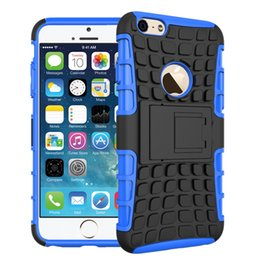 Protection téléphone cellulaire en Ligne-Pour Apple iPhone 6 6S 7 7s ainsi que des pneus antichoc Pattern Avec Téléphone Béquille Cell Case PC TPU anti-dérapage Mobile Phone Housse de protection