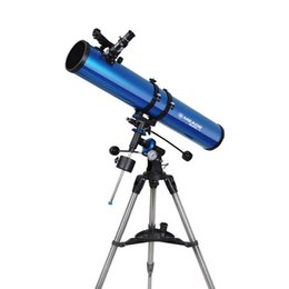 Wholesale New Meade Polaris mm German Equatorial Reflector Telescope w Stainless steel Tripod Blue W2532L
