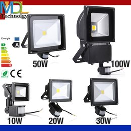 Wholesale PIR Infrared Motion Sensor led floodlight V Waterproof W W W W COB IP65 led Flood Light for led spotlight outdoor Lights