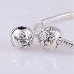 Wholesale Authentic Sterling Silver Lock Clip Core Stopper Charm Beads For Jewelry Making DIY Accessories Fits Pandora Bracelet KT077