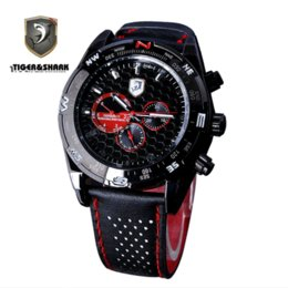 Wholesale car Luxury packaging gift grey black and red dial Relogio calendar man leather machinery package movement wrist watch