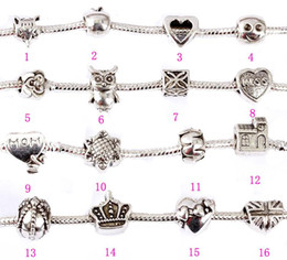 Pandora Beads Charms with Hollow Full Love Heart Bead Charm Fit Women Diy Pandora Charm Snake Bead for Chain Bracelets & Bangles