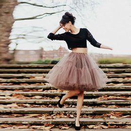 2016 Tutu Tulle Skirts For Women Brown Black Ball Gown Short Women Skirts Adult Dresses Party Skirts For Women Maxi Skirts Plus Size