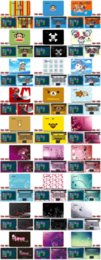 Wholesale Laptop Stickers HD Picture Gallery for Macbook Lenovo Thinkpad Acer Asus Dell HP Models Fashion Laptop Skins Notebook Decal Case