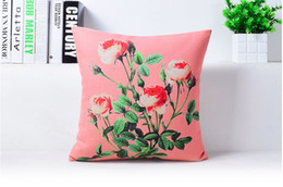 Beauty Pattern Red Rose Art Painting Massager Decorative Pillow Case Cover Euro Pillows Emoji Home Decor Vintage Gift