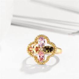 Selling Flower Charms Women 's Rings Wholesale Fine Jewelry of Wedding & Engagement Band Rings as Christmas Gift