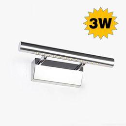3W 280mm bathroom light, 110V   220V mini SMD led mirror lamp, warm  cool white wall lamps