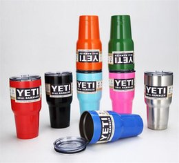 Wholesale Newest Yeti oz cooler Rambler Tumbler Bilayer Stainless Steel Insulation Cups Cars Beer Mug Large Capacity Mug Tumblerful DHL Free