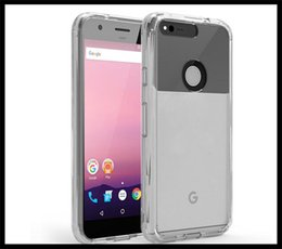 Wholesale Google Pixel Pixel XL back cover ultra thin invisible tpu pC acrylic crystal shell sets protective sleeve Cell Phone