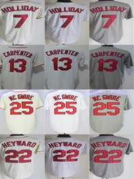 Mens Womens Youth Toddlers St. Louis 7 Matt Holliday 13 Matt Carpenter 25 Mark Mcgwire 22 Jason Heyward Cool Flex Base Baseball Jerseys