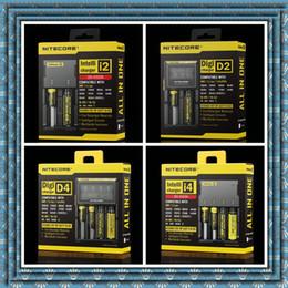 Wholesale 100 original de la pantalla auténtico Nitecore I2 I4 D2 D4 universal Intelli cargador LCD Cargador para IPV d5 IPV mod cuadro de DHL