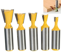 Wholesale 1PC Rail Stile Drill Bits Router Bit Solid Hardened Steel Body Dovetail Tenon Wood Cutter Woodworking Drilling Best Hand Tool Parts