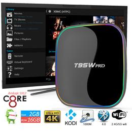 Wholesale T95W Pro Android TV Boxes Octa Core Amlogic S912 K Media Player KODI Miracast DLNA Smart Direct TV Set Top Box