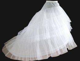 Wholesale Hot sale white color Chapel Train Bridal dress Crinoline petticoat Bridal Accessories mermaid mid train petticoat hoop