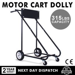 Wholesale 140KG OUTBOARD MOTOR STAND TROLLY LBS Outboard Boat Motor Stand Carrier Cart Dolly Storage Pro Heavy Duty New