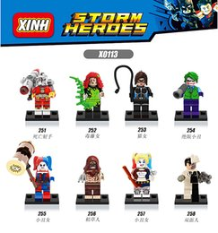 Wholesale 2016 New Marvel super heroes badass villain Suicide Squad Harley Quinn Poison Minifigures Building Block Toys X0113