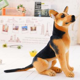 Wholesale new style Gate wolfhound dog plush toys Imitate Toys sitting dog cloth doll stuffed animals baby kids toys children