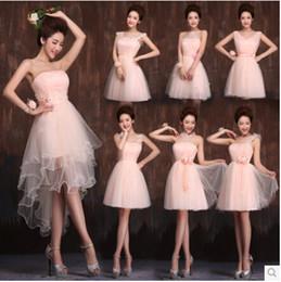 New bridesmaid dress, new 2016 wedding toast service, champagne dress short paragraph