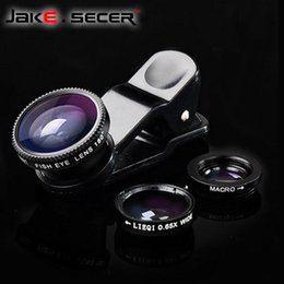 Wholesale Mobile phone lenses Fish eye Lens For The Phone iphone Lens Fisheye ojo de pez lente celular Universal Camera in for iPhone