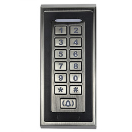 Wholesale RFID KHZ Metal Case Shell Keypad Backlight Access Control For Apartment Home Office White Bronze F1210