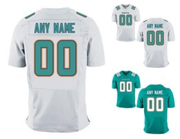 Wholesale 2016 Dolphins Men s Elite Miami Custom Home Away White Aqua Football Jerseys Any Name Number MARINO LANDRY High Quality Stitched Wear