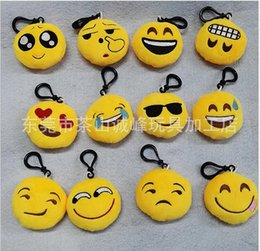 Wholesale 2016 The mobile phone s accessories cute cartoon emoji expression Key chain accessories manufacturers selling QQ expression