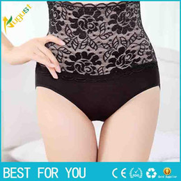 Wholesale 2016 New Fashion Body Shaper Hip Abdomen Tummy Control High Waist Briefs Underwear Women Underpants Sexy Lace Shaper Buttock new hot