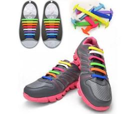 Wholesale H12Pc Set Running No Tie Shoelaces Fashion Unisex Women Men Athletic Elastic Silicone Shoe Lace All Sneakers Fit Strap