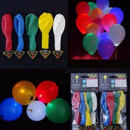 Wholesale Light up balloons Flash Led Balloon Illuminated Latex Balloons Birthday Party Wedding Decoration Globos Led
