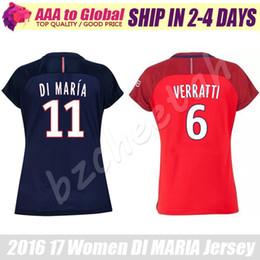 Wholesale Women Di Maria jersey Calcio Maglia Lady VERRATTI DAVID LUIZ Soocer Jersey PASTORE football uniform