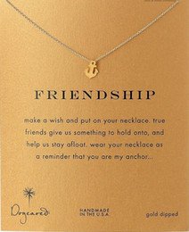 Wholesale Anchor Friendship Dogeared Necklace Friendship Noble and Delicate Jewelry K Gold Charm Necklace Best Friend Birthday Present