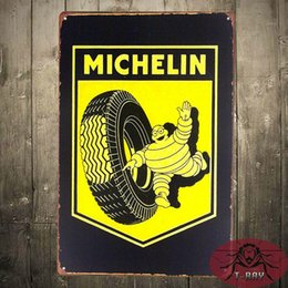 Wholesale Reproduction Michelin Tire Man Service Station Metal Sign Tin Sign for the Man Cave Garage