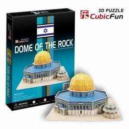 Wholesale Candice guo D puzzle toy architectural D paper model jigsaw game Jerusalem Dome of the Rock